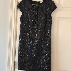 Blk sequin dress